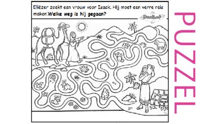 Puzzel – Genesis 24 – Abraham, Eliezer, Laban, Rebekka 2