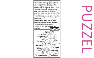 Puzzel – Genesis 32, 33 – worsteling, Israël, Jakob, Ezau 2