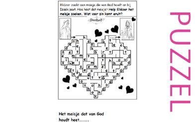 Puzzel – Genesis 24 – Abraham, Eliezer, Laban, Rebekka 4