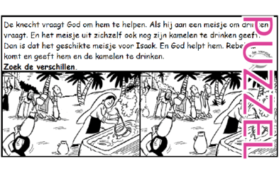 Puzzel – Genesis 24 – Abraham, Eliezer, Laban, Rebekka 6