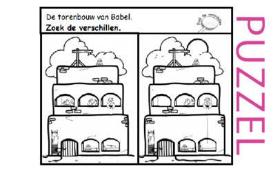 Puzzel – Genesis 11 – de torenbouw van Babel 1