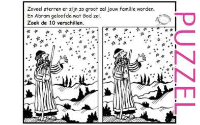 Puzzel – Genesis 12, 15, 16 – Abram, Abraham, Sarai, Sara, Hagar, Ismael 10