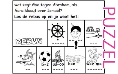 Puzzel – Genesis 12, 15, 16, 21 – Abram, Abraham, Sarai, Sara, Hagar, Ismael 16