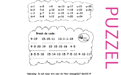 Puzzel – Genesis 12, 15, 16 – Abram, Abraham, Sarai, Sara, Hagar, Ismael 7