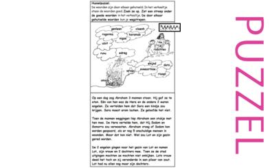 Puzzel – Genesis 13, 14, 18, 19 – Abram, Abraham, Lot 4