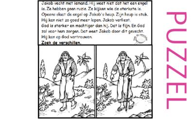 Puzzel – Genesis 32, 33 – worsteling, Israël, Jakob, Ezau 1