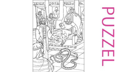 Puzzel – Exodus 5, 6, 7, 8, 9, 10, 11, 12, 13 – Mozes, Aaron, Farao,10 plagen, paasfeest, uittocht 19