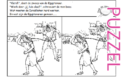 Puzzel – Exodus 5, 6, 7, 8, 9, 10, 11, 12, 13 – Mozes, Aaron, Farao,10 plagen, paasfeest, uittocht 20