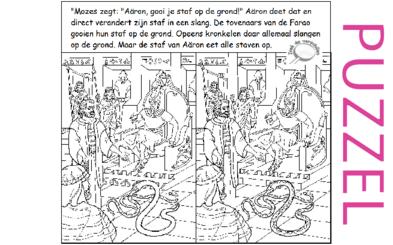 Puzzel – Exodus 5, 6, 7, 8, 9, 10, 11, 12, 13 – Mozes, Aaron, Farao,10 plagen, paasfeest, uittocht 21