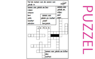 Puzzel – Genesis 29, 30 – Jakob, Rachel, Lea, kinderen 2