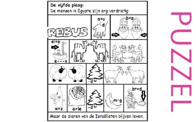 Puzzel – Exodus 9 – 10 plagen, veepest 1