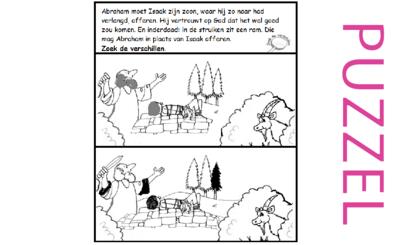 Puzzel – Genesis 22 – Abraham, Isaak, offer 2