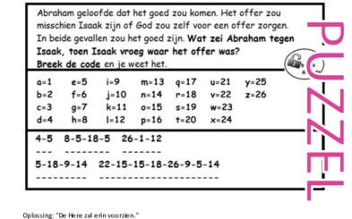 Puzzel – Genesis 22 – Abraham, Isaak, offer 4