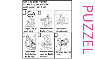Puzzel – Genesis 22 – Abraham, Isaak, offer 5