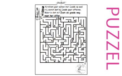 puzzel genesis 22 abraham isaak offer 6 opkijken nl