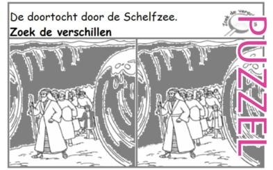 Puzzel – Exodus 14, 15 – Doortocht door de Rietzee, Mozes, Aäron, Mirjam 2