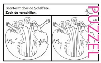 Puzzel – Exodus 14, 15 – Doortocht door de Rietzee, Mozes, Aäron, Mirjam 6