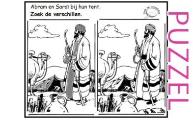 Puzzel – Genesis 18, 21 – Abraham, Sara, Isaak 1