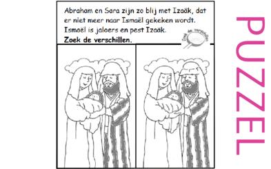 Puzzel – Genesis 18, 21 – Abraham, Sara, Isaak 2