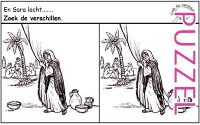 Puzzel – Genesis 18, 21 – Abraham, Sara, Isaak 4