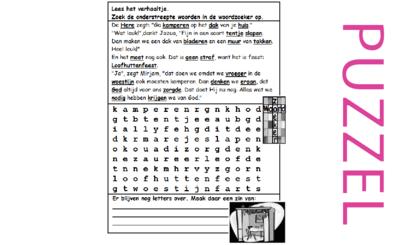 Puzzel – Leviticus 23, Deuteronomium 16, 31 – Mozes, wet, heilig volk , rein en onrein, feesten, godsdienst 4