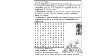 Puzzel – Jozua 23, 24 – Jozua en Eleazar sterven, Jozef begraven, volk ontrouw