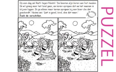 Puzzel – Ruth 2 – Noömi, Naomi, Ruth, Boaz, koren 1
