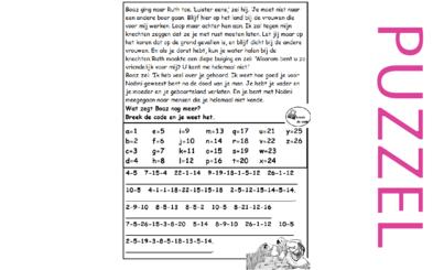 Puzzel – Ruth 2 – Noömi, Naomi, Ruth, Boaz, koren 3, zegen