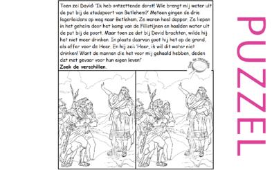 Puzzel – 2 Samuel 23, 1 Kronieken 11 – David's dappere helden 3
