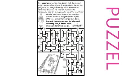 Puzzel – 1 Kronieken 6, Leviticus 16  – taak hogepriester 2