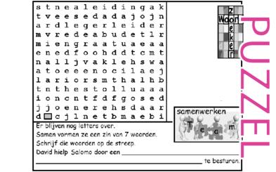 Puzzel – 1 Kronieken 27, 1 Samuël 22, 2 Samuël 15, 17, 1 Koningen 4 – taak legeroversten, stamhoofden, beambten, raadsheren