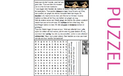 Puzzel – 1 Kronieken 4, Genesis 34 – geslachtsregister, Dina, Simeon en Levi 9