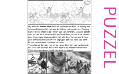 Puzzel – 1 Koningen 18 – God, Achab, Izebel, profeten Baäl, volk, Elia: het avondoffer