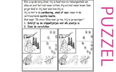 Puzzel – 1 Koningen 19 – God, Elia