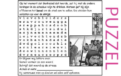 Puzzel – 1 Koningen 20 – Benhadad, Achab, Israël oorlog