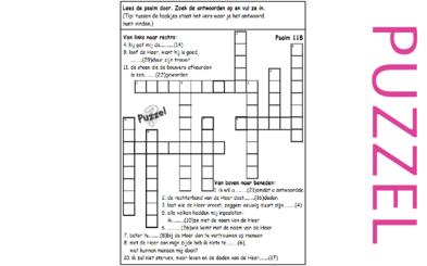 Puzzel – Psalm 118, 106, 136, Mattheüs 21 – Loof HEER: Eeuwige trouw, straf, zegen, hoeksteen, Jezus(NT)