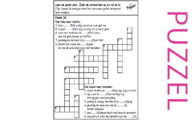 Puzzel – Psalm 32, 1, 6, 38, 51, 102, 130, 143 – Begin psalm 1, Boetepsalm, zonde David, vergeving