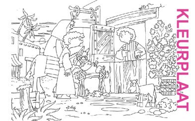 Bijbelse afbeeldingen en kleurplaten – Lucas 2 – Jozef, Maria, geen plaats, stal, Messias, Bethlehem