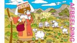 Bijbelse afbeeldingen en kleurplaten – Psalm 23, Mattheüs 18, Lucas 15, Johannes 10 – Jezus, gelijkenis: Goede Herder, verdwaalde schaap