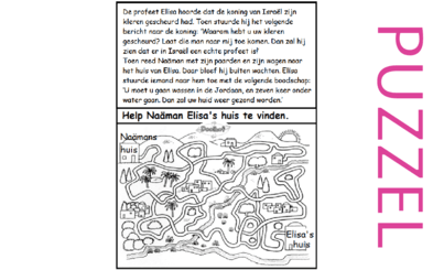 Puzzel – 2 Koningen 5 – Elisa, echte profeet, opdracht Naäman