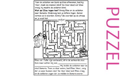 Puzzel – 2 Koningen 6 – Elisa, soldaten verblindt