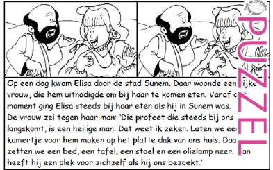 Puzzel – 2 Koningen 4 – Elisa, kamer in Sunem