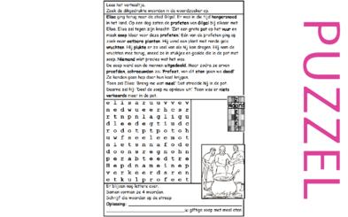 Puzzel – 2 Koningen 4 – Elisa, Gilgal, profeten, soep, geloof