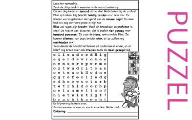 Puzzel – 2 Koningen 4 – Elisa, 20 broden voor 100 mensen, wonder