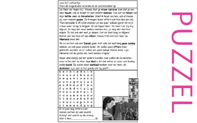 Puzzel – Hosea 3 – Hosea, nieuwe kans, Gomer alleen, volk zonder leider, belofte