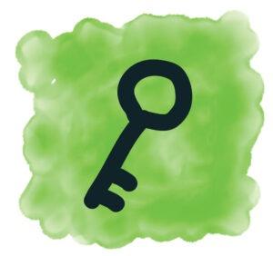 sleutel-blokje-groen