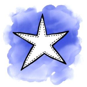 ster-blokje-blauw