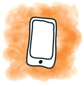 tablet-blokje-oranje