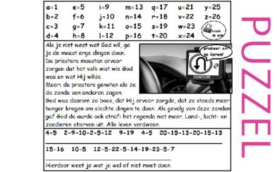Puzzel – Hosea 4 – gevolgen van de zonden, bekeren