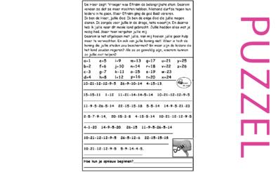 Puzzel – Hosea 13, 14 – God straft